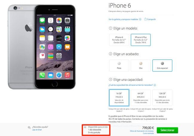 Stock nuevos iPhone 6 y iPhone 6 Plus