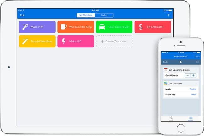 Workflow, la automatización de acciones llega a iOS