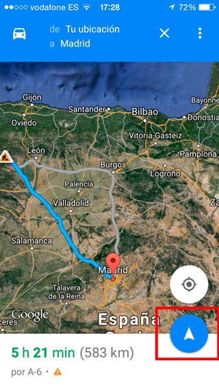 google-maps-confirmacion-ruta