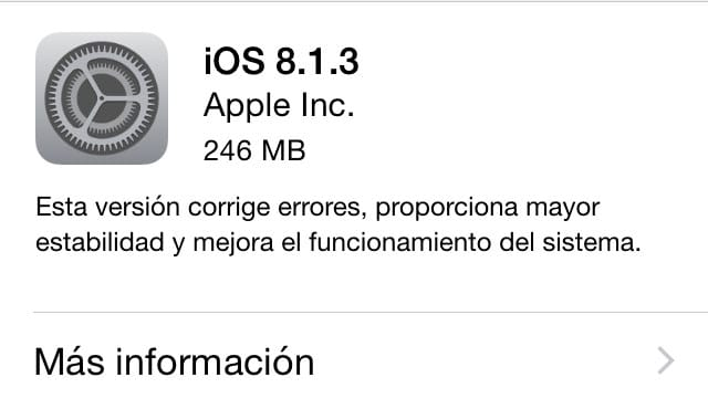 iOS 8.1.3 disponible