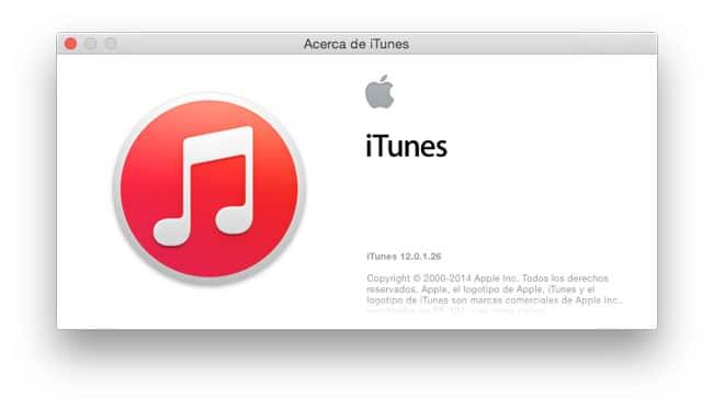 iTunes, última versión