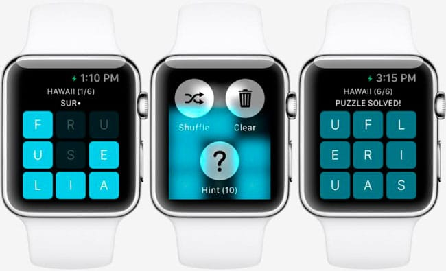 Letterpad, primer juego Apple Watch