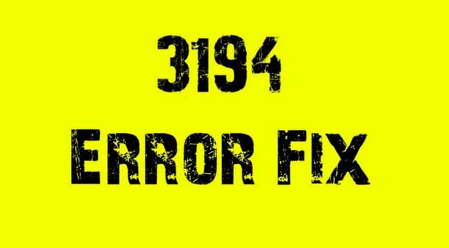 Solución al error 3194 en iPhone, iPad y iPod touch