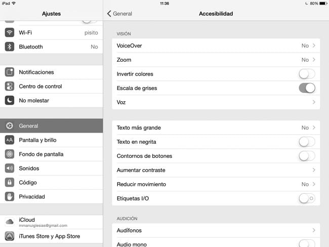 Activar Escala de Grises en iPhone y iPad