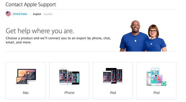 Apple atención al cliente