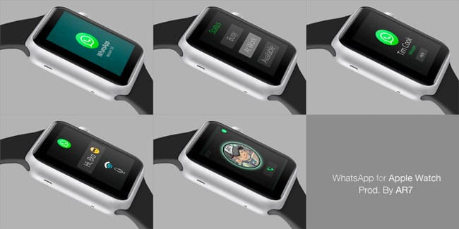 Concepto WhatsApp para Apple Watch