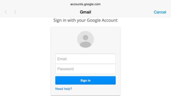 Identificación en dos pasos Gmail