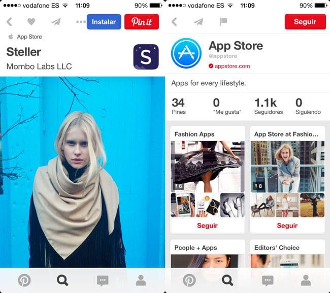 Pinterest estrena un nuevo tipo de pines para apps