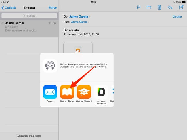 Abrir ePub en iPad o iPhone
