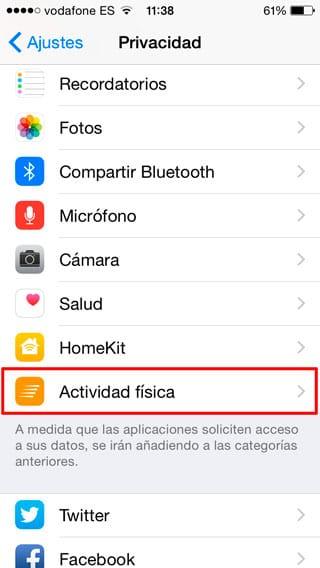 Actividad Física - iOS 8.2
