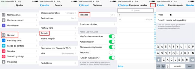 Escribir símbolo Apple en iPhone y iPad