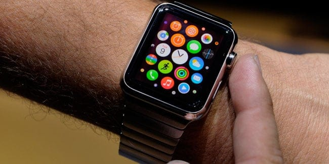 Colocar iconos pantalla Apple Watch
