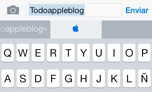 Escribir símbolo Apple en iOS
