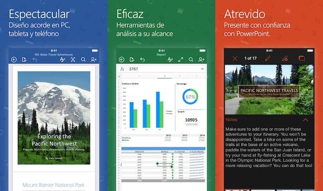 Word, Excel y PowerPoint