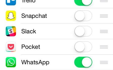 Activar en WhatsApp la opción compartir de iOS 8