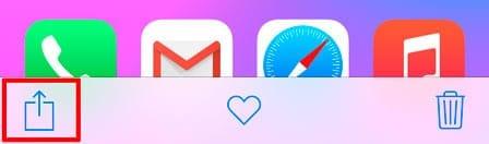 Botón de compartir en iOS 8