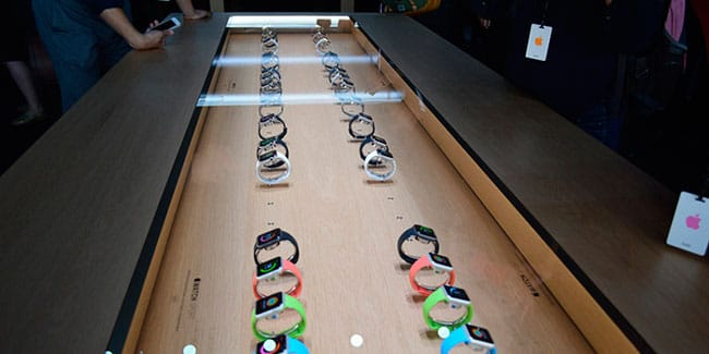 Expositor de Apple Watch