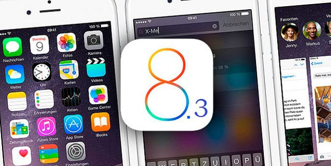 iOS 8.3 disponible
