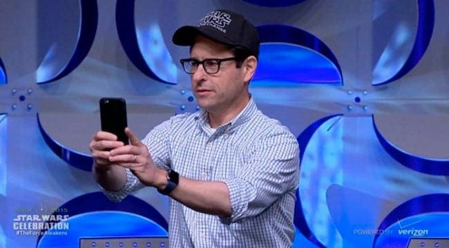 JJ Abrams aparece con un Apple Watch