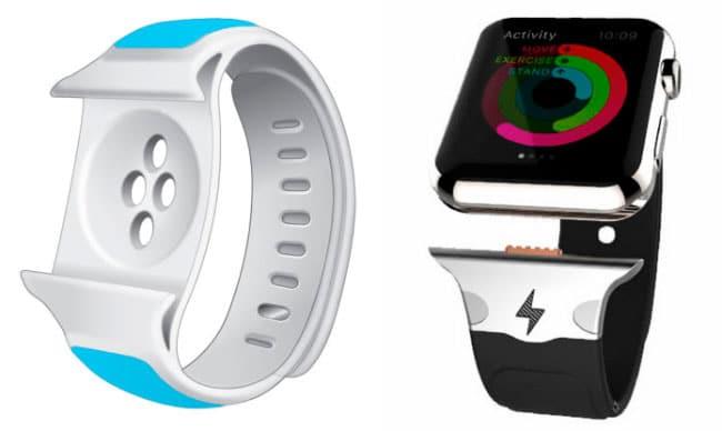 Nuevo diseño correa con batería para Apple Watch