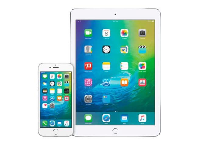 iOS 9 en iPhone y iPad