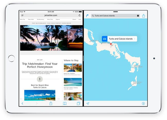 Multipantalla en iPad con iOS 9