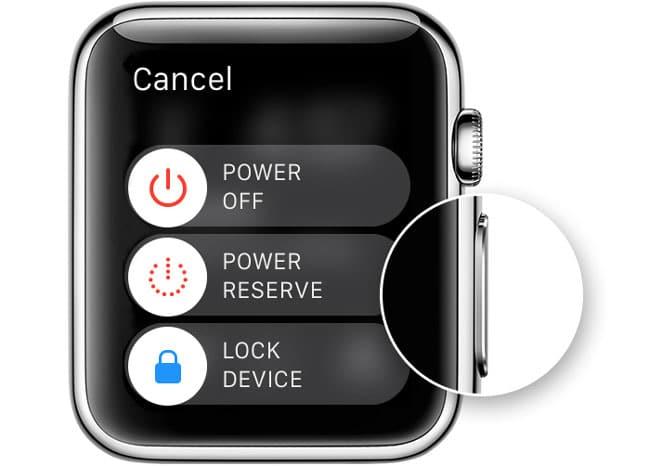 Reiniciar Apple Watch