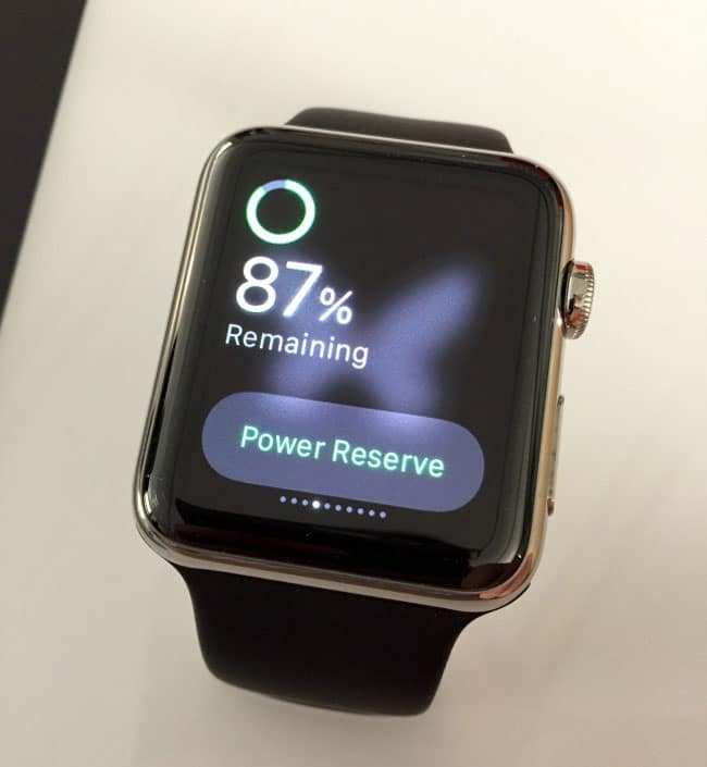 Modo ahorro de energía Apple Watch