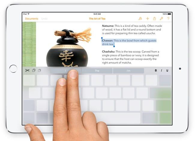 Teclado QickType en iOS 9