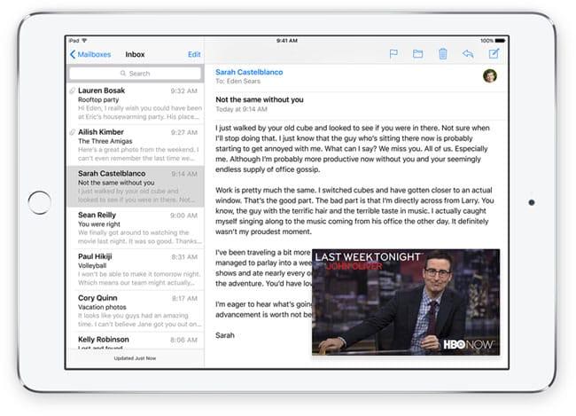 Nuevo modo de reproducción de vídeo en iOS 9