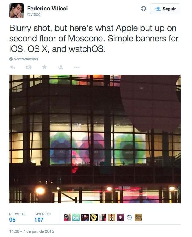 Cartel WatchOS visto en el Moscone Center