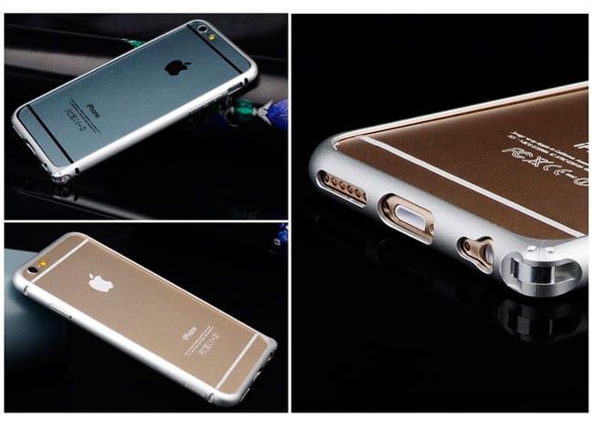 Bumper Baseus de aluminio reforzado para iPhone 6