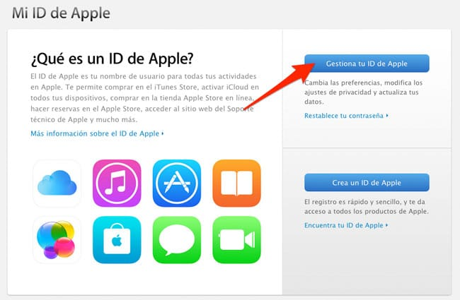 Activar verificación de dos pasos en un Apple ID