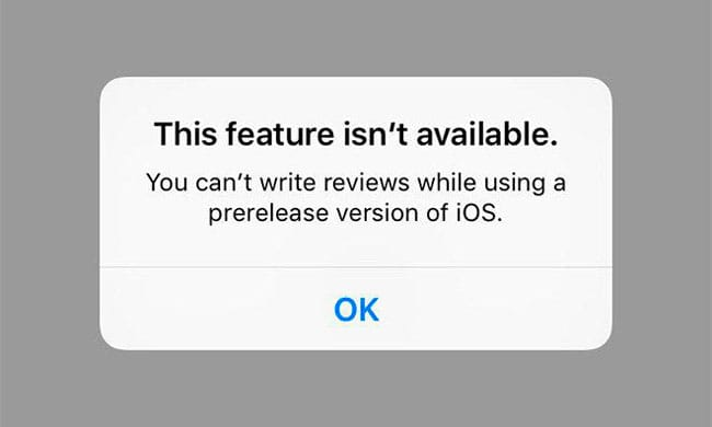 Apple ya no permite valorar apps a usuarios con versiones beta de iOS