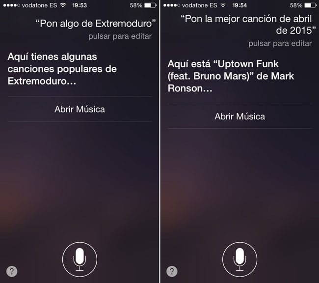 Comandos de Siri para Apple Music