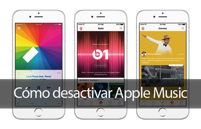 Cómo desactivar Apple Music