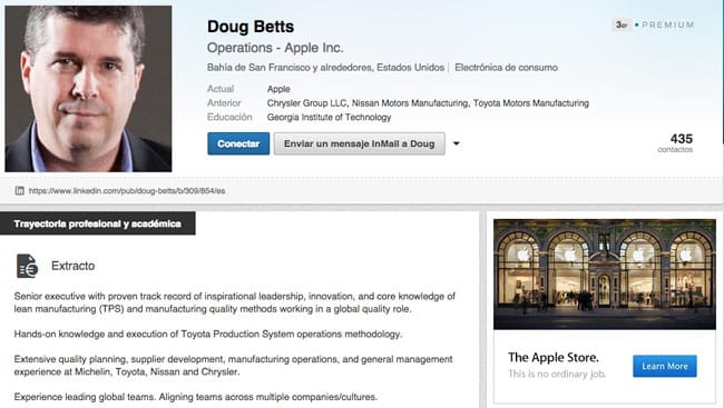 Doug Betts ficha por Apple