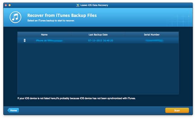 Extraer datos de un backup de iTunes