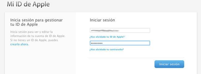 Identificarse con Apple ID