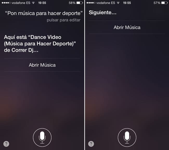 Instrucciones de Siri para Apple Music