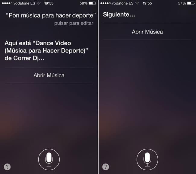 Instrucciones de Siri para Apple Music