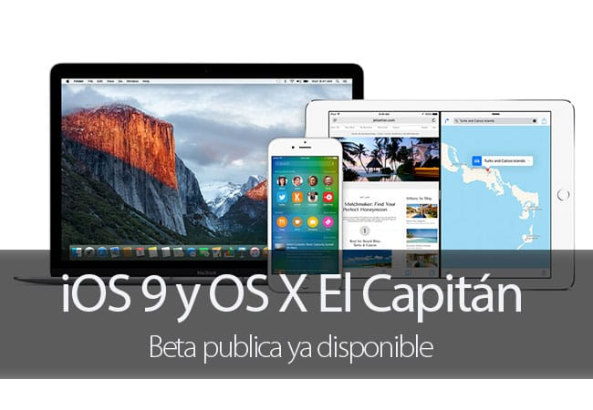 OS X El Capitán y iOS 9 disponibles en beta pública