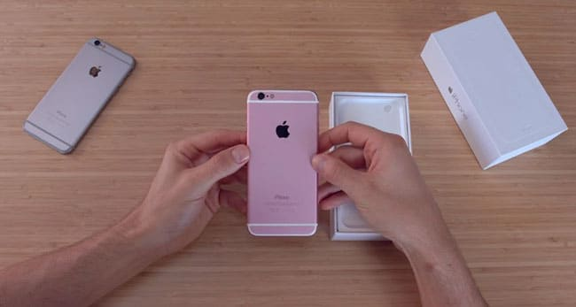 Unboxing iPhone 6s rosa clon