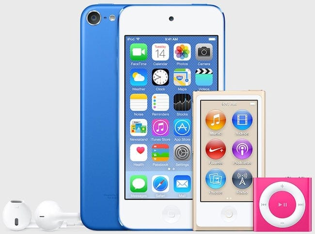 iPod en nuevos colores