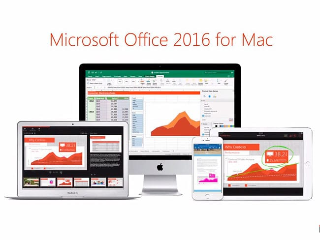 Microsoft Office 2016 para Mac versión final
