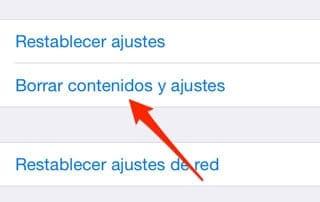 Restablecer desde dispositivo iOS