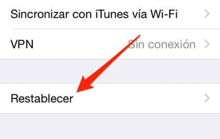 Restablecer iPhone, iPad o iPod Touch