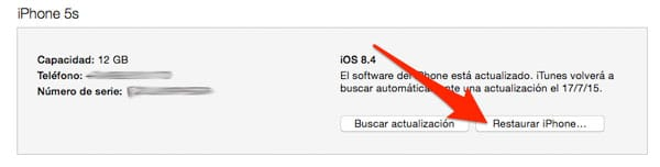 Restaurar iPhone, iPad o iPod Touch desde iTunes