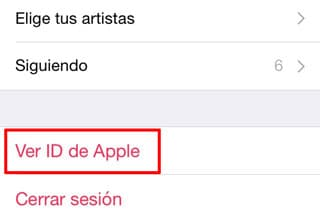 Ver ID de Apple Music