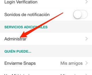 Activar modo viaje en Snapchat